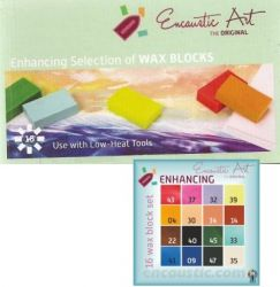 Encaustic ART WAX SET - Комплект 16 цв. восък за Енкаустика ENHANCING SET