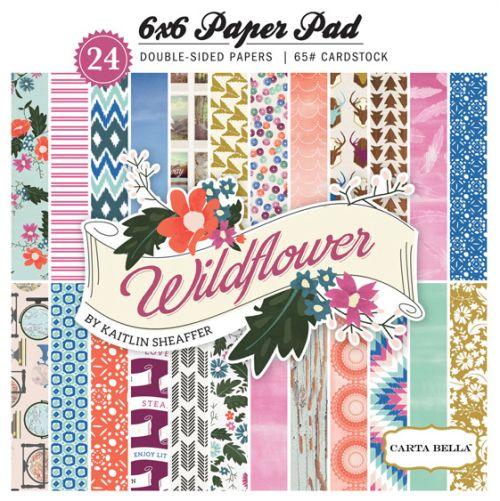 "CARTA BELLA WILD FLOWER Pad 6x6 24 - Дизайнерски блок 6""х6"" / 24 листа"