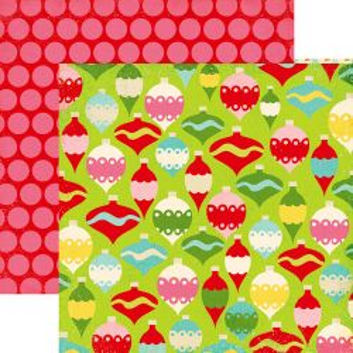 ECHO PARK USA # CHRISTMAS  - Дизайнерски двустранен скрапбукинг картон 30,5 х 30,5 см.