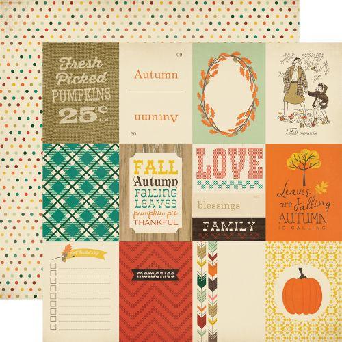 CARTA BELLA USA # FALL BLESSINGS  - Дизайнерски скрапбукинг картон 30,5 х 30,5 см.