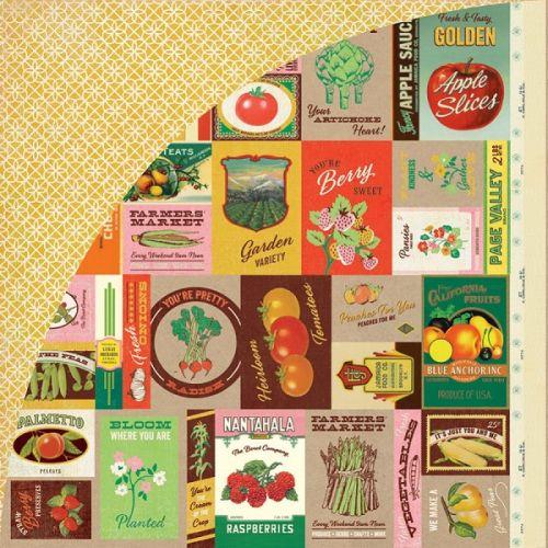 BASIC GREY USA #  - Дизайнерски скрапбукинг картон 30,5 х 30,5 см.