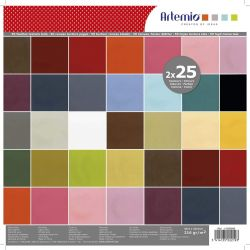 "ARTEMIO SCRAP BLOCK 40SH - Дизайнерски блок 12""х12"" / 40листа"