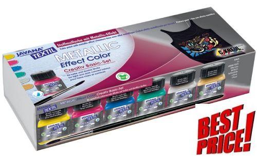 # JAVANA METALLIC EFFECT - K-кт металик бои за рисуване върху текстил № 92400