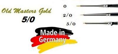 OLD MASTERS Gold . Germany  - Четкa Gold Taklon № 5/0