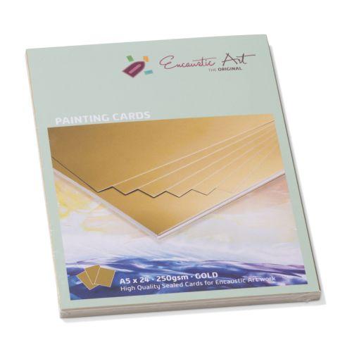 Encaustic Cards - Комплект 24 бр. картички за енкаустика А5 GOLD