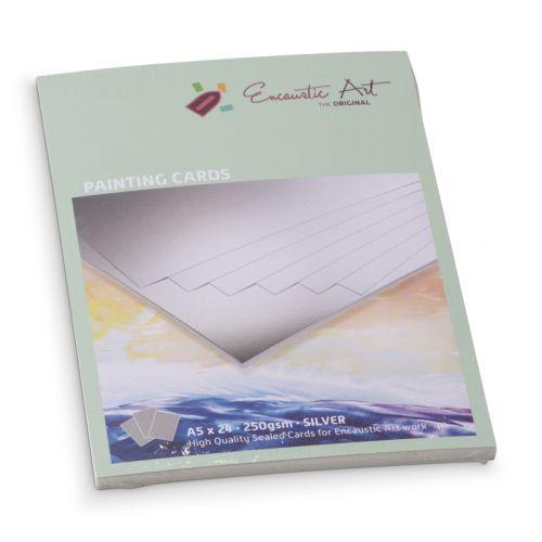 Encaustic Cards - Комплект 24 бр. картички за енкаустика А5 SILVER