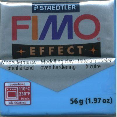 FIMO EFFECT - ПОЛИМЕРНА ГЛИНА Translucent Blue 374