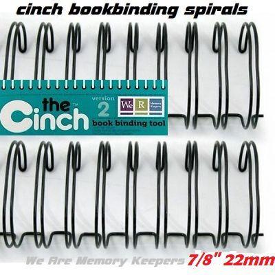 """CINCH WIRE BINDING SPIRALS - Двойни спирали за подвързване  7/8"""" 22мм  / 10бр ЧЕРНИ"""