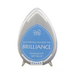 BRILLIANCE DewDrop Pigmet Ink, Japan - Тампон с бързо съхнещо мастило - SKY BLUE PEARLESCENT