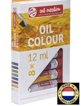 TALENS ART OIL 8  - Фини Mаслени бои 8 цвята # Made in Holland