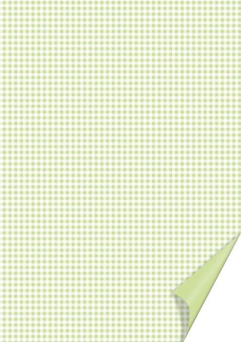 Card A4 200g Checks L.Green 21х31см