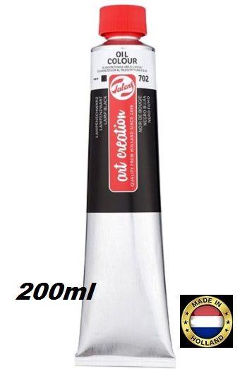 TALENS  OIL 200ml LAMP BLACK - Фини маслени бои 702 ЧЕРНА ЛАМПЕНА