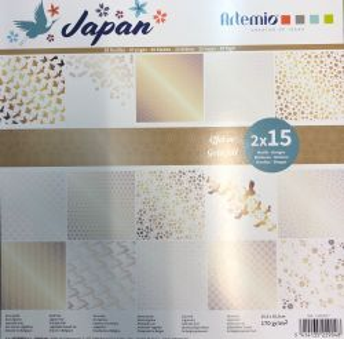 "ARTEMIO SCRAP BLOCK 170gr/m - Дизайнерски блок 12""х12"" / 30листа картон GOLD FOIL"