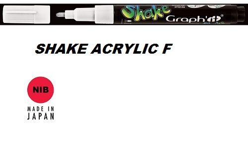 SHAKE ACRYLIC MARKER F -  Акрилен PERMANENT маркер WHITE / БЯЛ
