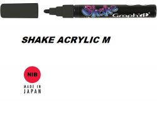 SHAKE  ACRYLIC  MARKER М -  Акрилен PERMANENT маркер BLACK / ЧЕРЕН