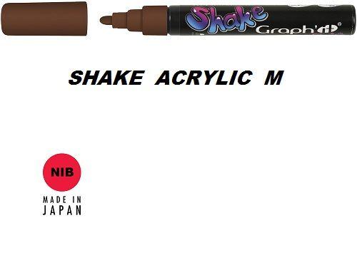 SHAKE ACRYLIC MARKER М -  Акрилен PERMANENT маркер BROWN / КАФЯВ КАКАО