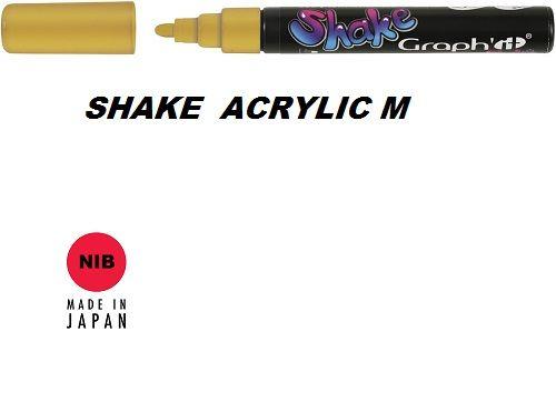 SHAKE ACRYLIC MARKER М -  Акрилен PERMANENT маркер GOLD / ЗЛАТО