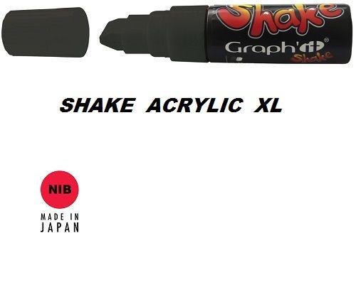 SHAKE ACRYLIC MARKER XL -  Акрилен PERMANENT маркер BLACK / ЧЕРЕН