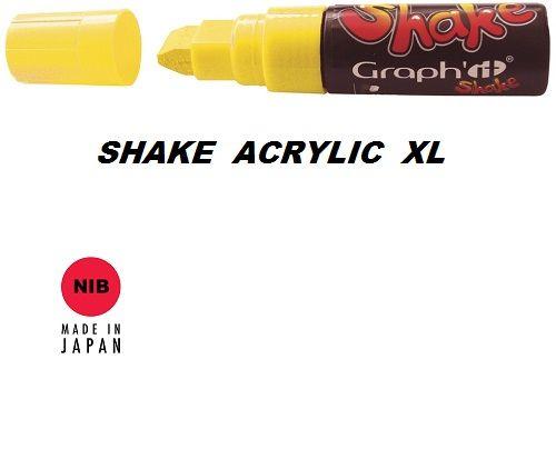 SHAKE ACRYLIC MARKER XL -  Акрилен PERMANENT маркер YELLOW / ЖЪЛТ