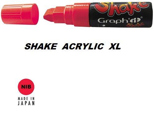 SHAKE ACRYLIC MARKER XL -  Акрилен PERMANENT маркер LIPSTICK RED