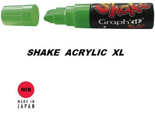 SHAKE ACRYLIC MARKER XL -  Акрилен PERMANENT маркер LIME