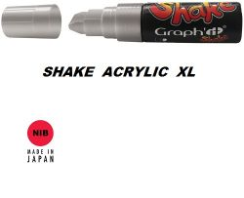 SHAKE ACRYLIC MARKER XL -  Акрилен PERMANENT маркер SILVER / СРЕБРО
