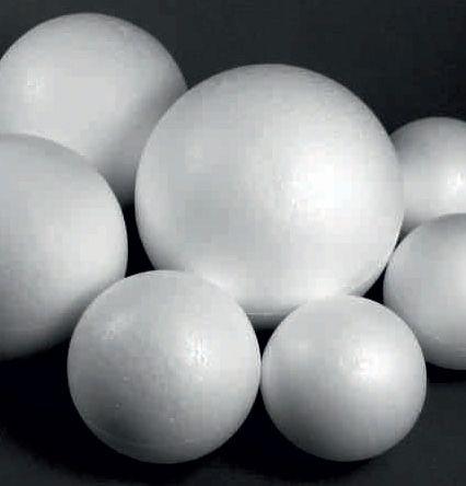 POLYSTYRENE BALL 12cm - Топка от стиропор 120 мм.
