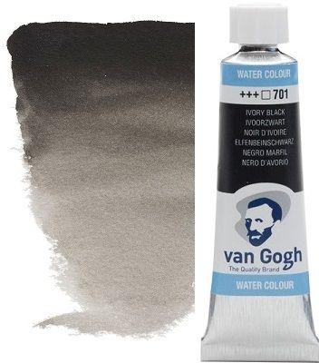 VAN GOGH WATERCOLOUR - Екстра фин акварел 10мл #  Ivory black 701
