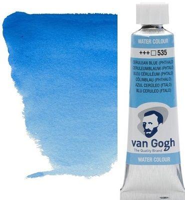 VAN GOGH WATERCOLOUR - Екстра фин акварел 10мл # Cerulean blue phthalo 535