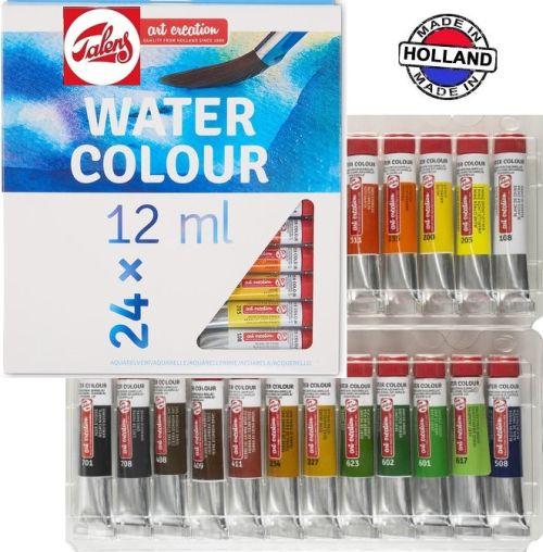 # TALENS ART AQUARELLE - АКВАРЕЛ 24 цвята в туби Made in Holland