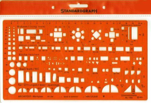 STANDARDGRAPH ARCHITECTS TEMPLATE 1:100 , model 7302