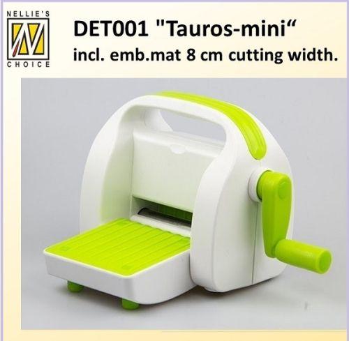 # TAUROS 8CM MACHINE - Машинkа за изрязване и релеф 2 ПОДЛОЖКИ + EMBOSSING MAT