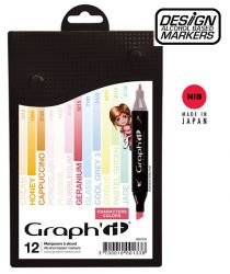 # GRAPH IT ALCOHOL MARKERS 12 - Двувърхи дизайн маркери 12цв CHARACTER