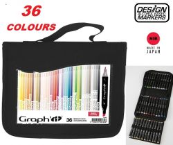 # GRAPH IT ALCOHOL MARKERS 36 - Двувърхи дизайн маркери 36цв BASIC