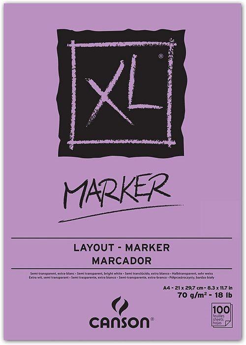 # MARKER PAD CANSON XL A4 -  Блок за MARKER рисуване 100 листа / А4