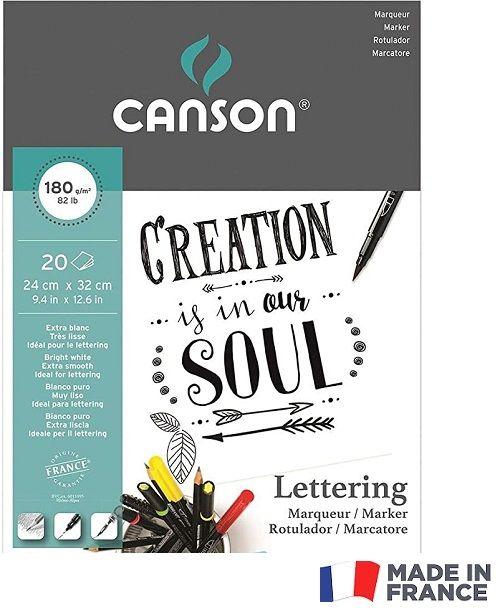 # MARKER PAD LETTERING CANSON 24X32 180g -  Блок за MARKER рисуване