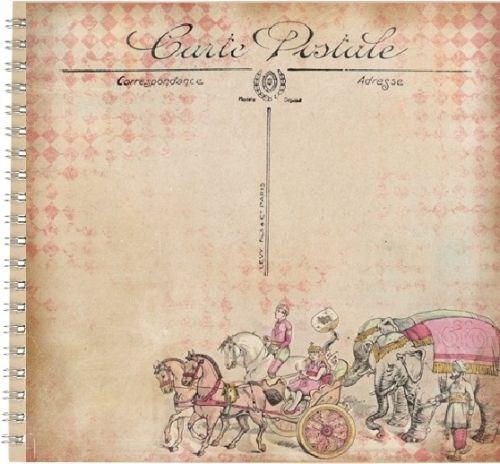 "ALBUM SCRAPBOOKING ""CARTE POSTALE"" - Дизайнерски скрапбукинг албум 30,5х30,5"