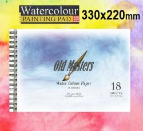 OLD MASTERS Watercolour BLOCK 270g - АКВАРЕЛЕН блок-спирала 18л / 330x220