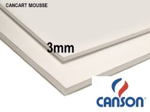 CANSON MOUSSE 3mm - ПЕНОКАРТОН 50x70  3мм