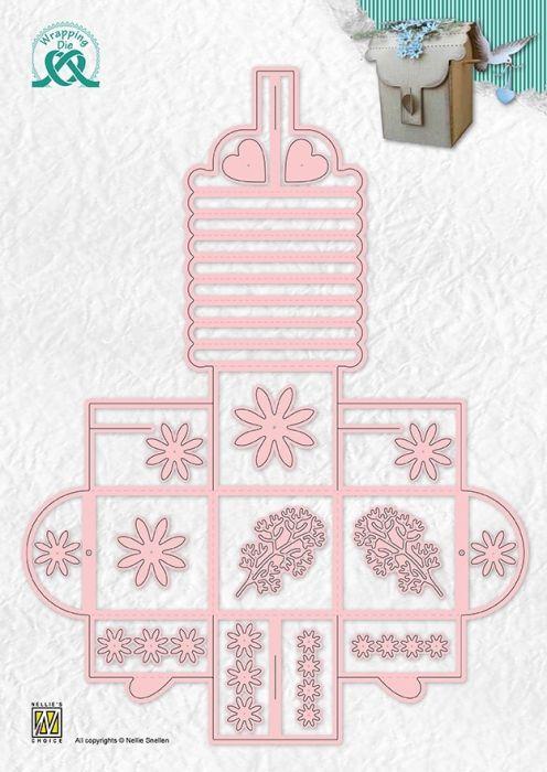 """BOX """"flower box"""" 50x50x95mm - Щанца за рязане и релеф, WPD013"""