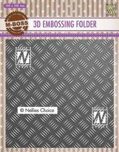 "3D-embossing folder ""Stripe pattern-1"" 150x150mm- 3D Ембос папка"