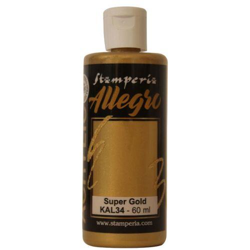 ALLEGRO ACRYLIC  - ДЕКО АКРИЛ  60 ml  /  Super gold metallic