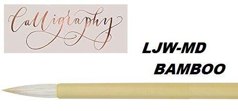 LJW-MD - WHITE HAIR BAMBOO BRUSH MEDIUM