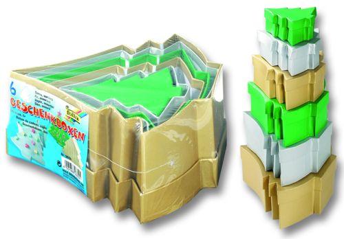 CARDBOX TREE  SET - Комплект 6 подаръчни кутии за декорация