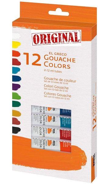 EL GRECO ART GOUACHE 12 - Фини темперни бои 12цв