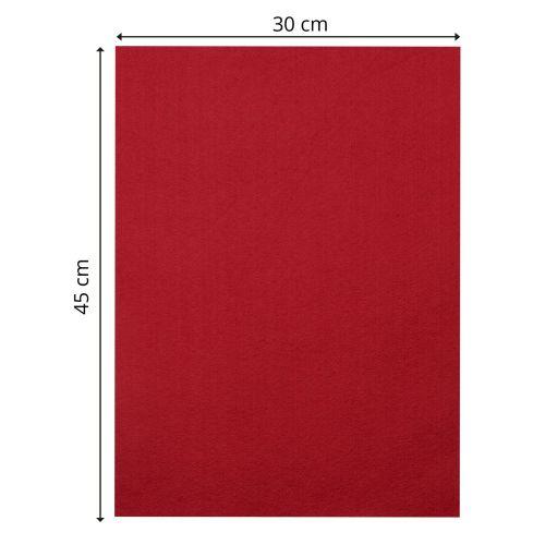 CREATIVE, Designer Felt - Дизайнерски филц 3,5мм  30 x 45 см. - Bright red