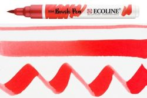 ECOLINE BRUSH PEN  - Дизайнерски маркер ЧЕТКА  - 334 SCARLET