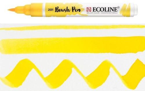 ECOLINE BRUSH PEN  - Дизайнерски маркер ЧЕТКА  - 201 LIGHT YELLOW