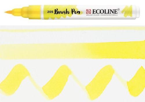 ECOLINE BRUSH PEN  - Дизайнерски маркер ЧЕТКА  - 205 LEMON YELLOW