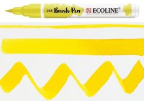 ECOLINE BRUSH PEN  - Дизайнерски маркер ЧЕТКА  - 233 CHARTREUSE